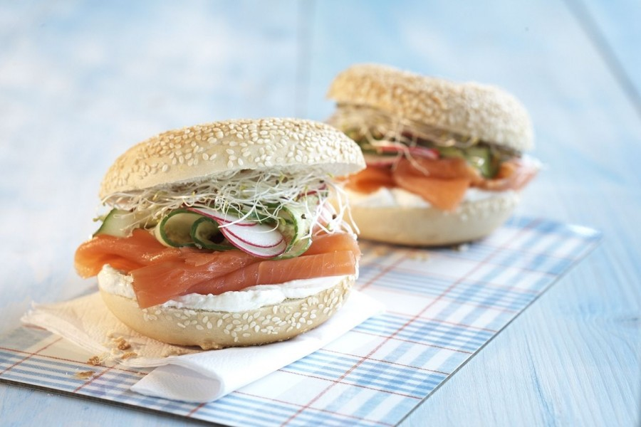 Lachsbagel mit Kodiak Wildlachs smoked